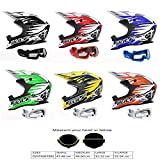Motorradhelm Für Kinder WULFSPORT ADVANCE KINDER ATV Helm Motocross Rennhelm KINDER ALLE FARBEN +...