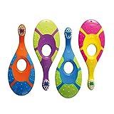 Jordan 6220100 Baby Zahnbürste Step 1 mit Beißring, 0-2 Jahre, extra soft (Farbe zufällig, 1...
