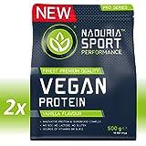 NADURIA SPORT Vegan Protein-Shake Vanille   1kg (2 x 500g)   Mit Erbsen-, Kürbiskern-,...