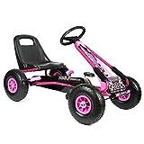 bopster - Go-Kart mit Pedalen und aufblasbaren Reifen Go-Kart-Fahren Kinder Jungen Outdoor - Rosa