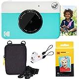 Kodak Printomatic Sofortbildkamera (Grau) Basis-Paket + Zinkpapier (20 Blätter) + Luxus-Etui +...