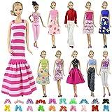 ZITA ELEMENT 10 Stück Puppensachen Mode Fashion Urlaubstag Kleider für Barbie Puppen...