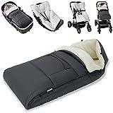 Monzana® Babyfußsack Baby Fußsack Winterfußsack Babyschale Kuschelsack Babydecke Kinderwagen...
