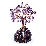 QGEM Edelstein Baum des Lebens Dekoration Wire Wrap Trommelsteine Lebensbaum Feng Shui Geldbaum...