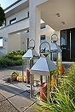 home + Laterne aus Edelstahl - Rostfrei, wetterfest - in verschiedenen Größen (spitz),...