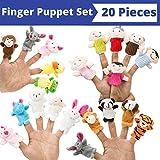 BETTERLINE Fingerpuppen-Satz (20-teilig), 6 Familienmitglieder Fingerpuppen, 14 Tierfingerpuppen -...