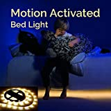 LED Lichtleiste mit Bewegungssensor, LED Bett Licht Baby, Sofa LED Leuchtband, Streifen warmweiß,...