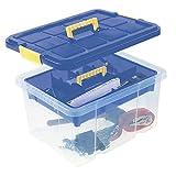 Universalbox mit Deckel und Einlegefach Werkzeugbox Werkzeugkiste Aufbewahrungskiste Unibox...