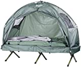Semptec Urban Survival Technology Feldbett Zelte: 4in1-Zelt inklusive Schlafsack, Matratze &...