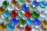 30 St. Deko Mosaiksteine Glasnuggets transparent a 17-20 mm bunt ca. 130g.