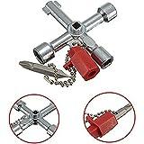 Universal 5in 1Triangle Utility Key Cross Zug Aufzug Schalter Schlüssel Schlüssel mit...