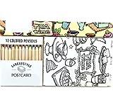 Da.Wa Postkarte Kreativ Farbenfrohes Leben Kunstpostkarte Set Handgemalt Färbung for...