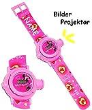 Armbanduhr - LED Licht Projektion - ' Disney Minnie Mouse ' - incl. Name - als Projektor Kinderuhr...
