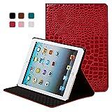 Yimiky iPad Mini 3 Hülle, PU Leder Ultradünne Leichte Bucheinbandart Smart Folio Ständer 360 Grad...