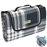 Beautissu BellaKa Picknickdecke Wasserdicht 200x200 XXL Outdoor, wärmeisoliert & weich Fleece...