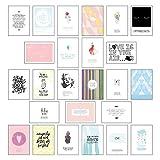 Postkarten Set - Postkarten Sprüche mit 25 hochwertigen versch. liebevollen Motiven und...