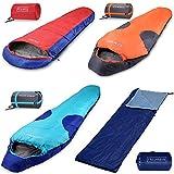 Polaris Schlafsack Mumienschlafsack Deckenschlafsack Camping Wandern Zelten - 210x75cm - ultraleicht...