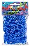 Rainbow Loom 20952 - Original Silikonbänder, 300 Bänder mit 12 C - Clips, neon blau