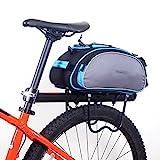 ROSWHEEL Fahrrad Gepäcktasche Satteltasche Gepäckträger Tasche Fahrradtasche Pack Bag (Grau mit...