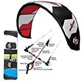KITE SET F2 RODEO ~ 11 QM + BAR + BAG + LEICHTWIND SESSION KITEBOARD 161 CM