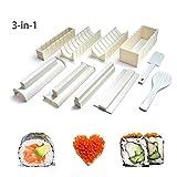 Easy Sushi Maker 10 Pieces,Sushi Making Kit Set for Beginners Kids