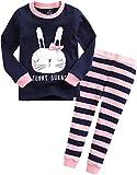 Vaenait Baby Säugling Kinder Langarm zweiteilige Schlafanzüge Set Funny Bunny L