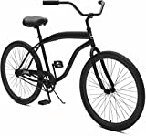 Critical Cycles Herren Chatham-1 Men's Beach Cruiser 26' Single-Speed Bicycle, Matte Black, One Size