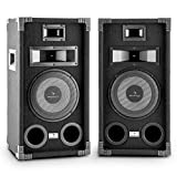 auna PA-800 • PA Lautsprecher Paar • 3-Wege-Boxen • Fullrange PA-Boxen • 2 x 400 Watt max....