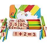 Vi.yo Digitale Game Sticks Holzbuchstaben Anzahl und Sticks Math Game Spielzeug für Kinder