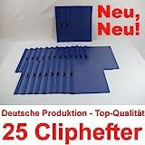Bewerbungsmappen Cliphefter Klemmmappen 25 Stück DUNKELBLAU / BLAU