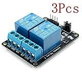 Bluelover 3Pcs 2 Wege Relais Modul Mit Optokoppler Schutz