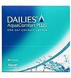 Dailies AquaComfort Plus Tageslinsen weich, 90 Stück / BC 8.7 mm / DIA 14.0 / -2,50 Dioptrien