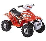 ROLLPLAY Mini Elektro-Quad, Für Kinder ab 1,5 Jahren, Bis max. 18 kg, 6-Volt-Akku, Bis zu 2 km/h,...