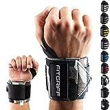 Handgelenk Bandagen [Wrist Wraps] von FITGRIFF - 45 cm Handgelenkbandage für Fitness, Bodybuilding,...