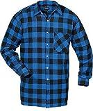 Flanellhemd gewebt extralang blau/sw Größe: XXL Farbe: blau