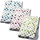 quschel® Babydecke / Erstlingsdecke grün aus 100% Bio-Baumwolle. Atmungsaktiv, pflegeleicht und...