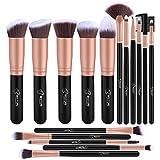 BESTOPE Make-up Pinsel Set- 16pcs Premium Kosmetik mit sehr weich Kunsthaar wie Samt- Kabuki...