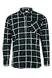 MAX PRO Herren Flanell-Hemd Arbeitshemd 100% Baumwolle Grün 3XL MP1015_3XL
