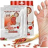Fußmaske, Luckyfine Wolfberry Füße Film 2 Paar Weiße Haut Füße Maske Entfernen Tote Haut...