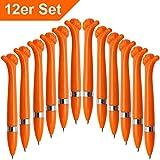 Ausgefallener Kugelschreiber,Oscar' aus Kunststoff - orange |blaue Schreibmine| [12 Stück]...