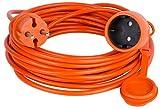 Verlängerungskabel Verlängerung Strom-Kabel ORANGE 10 15 20 25 30 40 50 m (20.0 Meter)