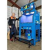 Exklusive Druckstrahlkabine von Datona - 990 Liter - Sandstrahlgerät mit Absaugung
