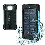 Iyowin Powerbank 15000mAh Extrene Akku Dual USB Ports tragbares Ladegerät Batterie Regenbestädig,...