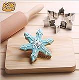 yeah67886Edelstahl Snowflake Cookie Backform