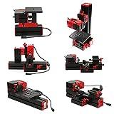 KKmoon Mini DIY 6 in 1 Drehmaschine Multifunktionale Fräsmaschinen Sägemaschine Motorisierte...