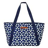 SunnyLIFE Große tragbare isolierte Strandtasche mit Schultergriffen und Reißverschluss an der...