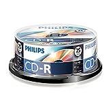 Philips CD-R Rohlinge (700 MB Data/ 80 Minuten, 52x High Speed Aufnahme, 25er Spindel)