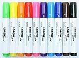 10 Textilstifte Stoffmalstifte   wasserfest   handlich   feste Spitze   perfekt für farbenfrohe DIY...