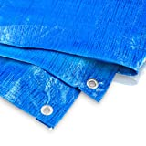 Bradas PL4/5 Abdeckplane 4 x 5 m, 60 g, blau
