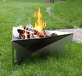 Thorwa® Design Feuerschale 'Triangle' 75cm aus witterungsfestem Edelstahl V2A - Feuerkorb...